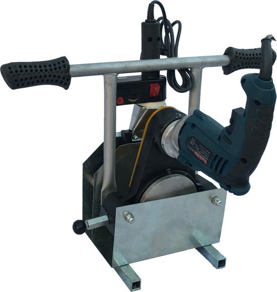 دستگاه جوش پلی اتیلن پرتابل ۱۱۰-۳۲ میلیمتر ( دو فک دستی)